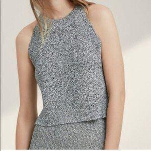 Aritzia Wilfred Crevier Top Grey Sleeveless Top